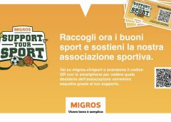 4995 buoni MIGROS SUPPORT YOUR SPORT GRAZIE MILLE